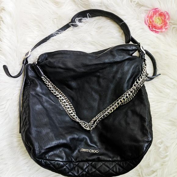 b9ae6fa3bb Jimmy Choo Bags | Euc Black Leather Biker Bag | Poshmark